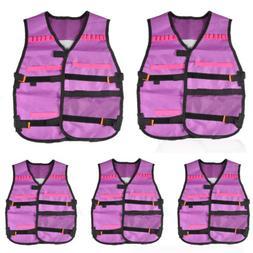 1/5/10/20/50pcs Tactical Vest Toy Gun Clip Jacket for Nerf T