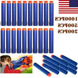 1000PCS Bullet Darts For NERF Kids Toy Gun N-Strike Round He