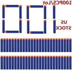 100Pcs Soft Bullet Refill Darts for Nerf N-Strike Elite Gun