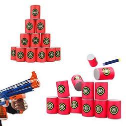 12P/lot for Nerf Gun Bullet Target Toy Soft N Strike Dart Sh