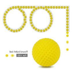 2.3cm 100 PCS Round Bullet Ball Refill Foam Darts for Nerf R