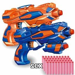2 pack blaster guns with 32 pcs
