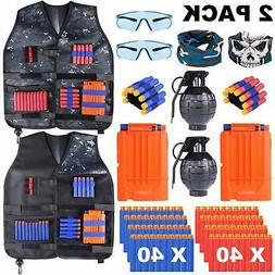 2 Pack Kids Tactical Vest Kit for Nerf Guns Nerf fortnite N-