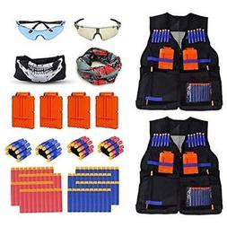 2 Pack Mega Set Kids Tactical Jacket Vest Kit For Nerf N-Str