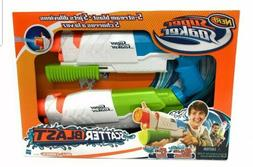 2 PACK Nerf Super Soaker Scatter Blast Water Gun Shoots to 3