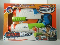 2 PACK Nerf Super Soaker Scatter Blast Water Gun Shoots to 3
