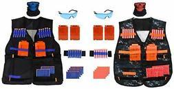 2-Pack Tactical Vest Kit for Nerf Guns Clips, 80 Soft Darts,