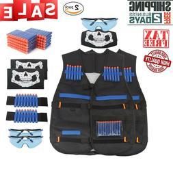2 Set Tactical Vest Suit Jacket Kit For Nerf Guns NStrike El
