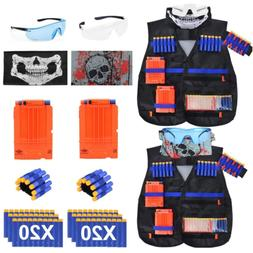 EXSPORT 2 Sets Tactical Vest Kits for Nerf Gun , 2 Pack N-St