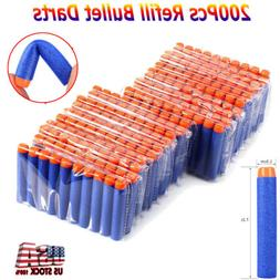 200Pcs Foam Refill Bullets Darts for Nerf N-strike Blasters