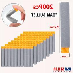 200Pc 7.2cm Refill Bullet Dart For Nerf N-strike Elite Retal