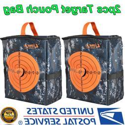 2x Target Pouch Darts Foam Bullet Storage Equipment Bag for