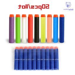 50pcs Fluorescence Dart Refills Universal Standard Round Hea