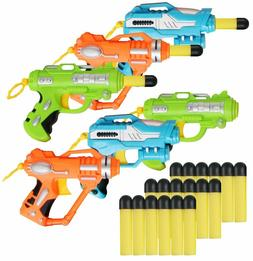 6 set blasters gun toy nerf gun