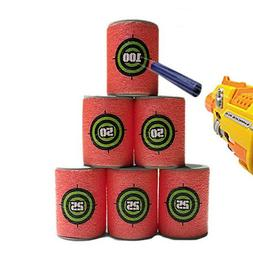 6p/lot for Nerf Gun Bullet Target Toy Soft N Strike Dart Sho