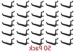 JSP Manufacturing 50 Pack Of JUMBO Pegboard Hooks Black Gara