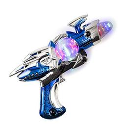 Kidsco Toy Gun – Blue Light-Up Noise Blaster 11 ½ Inches