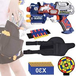 EXSPORT Blaster Gun with Tactical Waist Bag Holster, Paper S