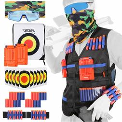 All in One Nerf Tactical Vest Kit Guns War Game With Foam Da
