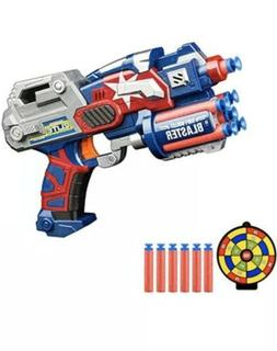 Avengers 2 Nerf Big League Blaster Gun w/ Foam Darts Dartboa