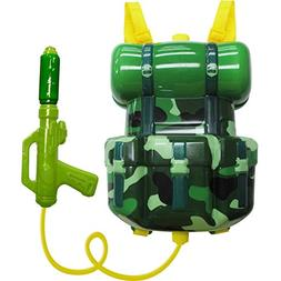 Backpack Super Soaker Blaster Water Squirt Gun HOLDS 1 GALLO