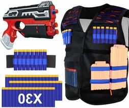 Blaster Gun Nerf Guns with Foam Bullet Darts 30PCS Waist Bag
