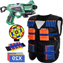 POKONBOY Blaster Gun and Tactical Vest Set with Wrist Band S