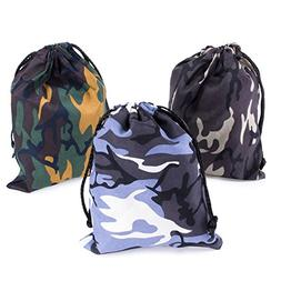 Camouflage Drawstring Travel Bags Pouch Sacks for Party Favo