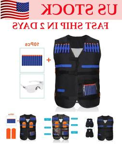 Children Elite Tactical Vest Kids Military Vest for Nerf Gun