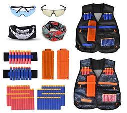 Fstop Labs 2 Pack Set Kids Tactical Jacket Vest Kit for Nerf