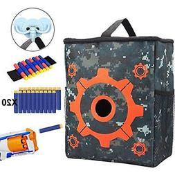 DEKITRU Blasters & Foam Play Target Pouch Storage Bag For Ta