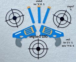 Die Cut Nerf Gun Bullets and Targets Handmade Scrapbook Page