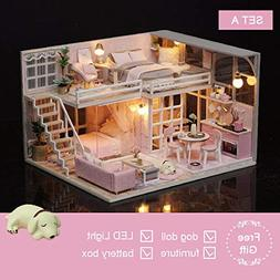 HiMom Doll Houses - DIY Doll House Wooden Doll Houses Miniat