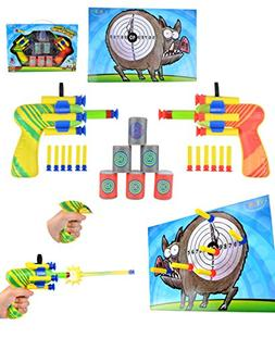 Joyin Toy Dual Battle Blasters Precision Target Set with Hun