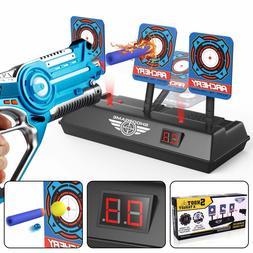 electronic digital scoring target for nerf guns