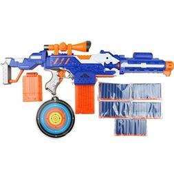 Electronic Submachine Gun Toy Suit for NERF Soft Bullet Gun