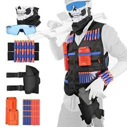 Full Tactical Vest Kit For Nerf Guns War Game With Foam Dart