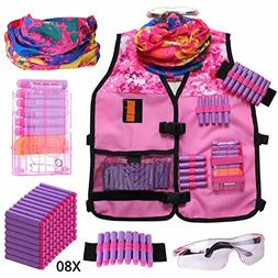 Girls Tactical Vest Kit Compatible with Nerf Guns N-Strike E