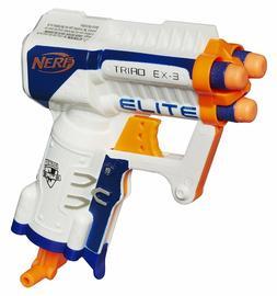 NERF GUN EX-3 Pistol N-Strike Elite Series Mini Micro War Bl