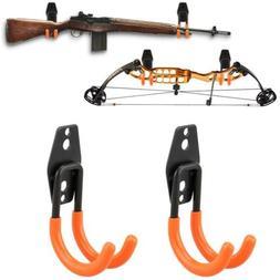 Gun Rack Shotgun Hooks Rifle Hangers Archery Bow Felt Lined