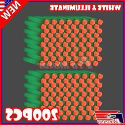 illuminate 200PCS Refill Bullet Darts for Nerf toy Gun N-str