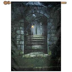 illustration gate a dark old