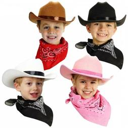 Jr Cowboy Hat with Bandanna Costume Accessory Kids Halloween