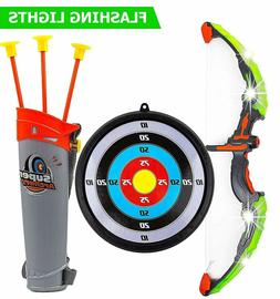 Kids Practice Outdoor Toys Archery Set Bow Nerf Gun Blaster