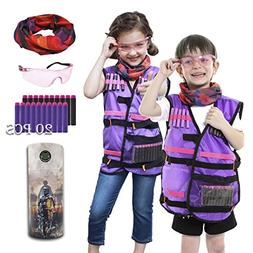 Kids Tactical Vest Kit for Nerf Rebelle Series Blaster