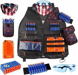 Kids Tactical Vest Kit for Nerf Guns N-Strike Elite Series
