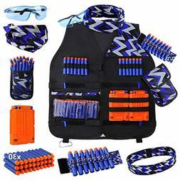 UWANTME Kids Tactical Vest Kit for Nerf Guns N-Strike Elite