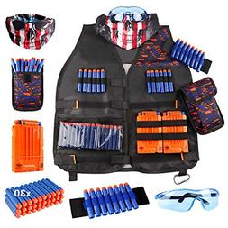 UWANTME Kids Tactical Vest Kit for Nerf Guns N-Strike Elite