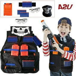 Kids Tactical Vest Kit Toy Gun Clip Jacket for Nerf Guns N-S