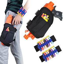 Kids Tactical Waist Bag and Dart Wrister Kit for Nerf Guns N